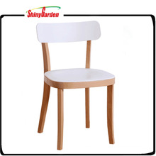 Indoor Dining Wooden Chair Frame Plastic Chair