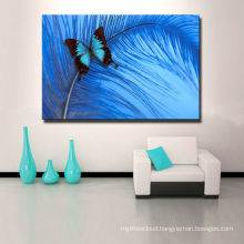 Digital Colorful Butterfly Leaves on Canvas Prints for living room