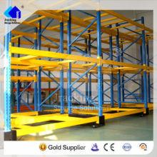 Almacén de recubrimiento en polvo de precio competitivo y sistema de estantes movibles de estante de metal electrónico