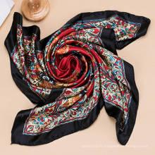 2017 Nouveau foulard en mousseline de soie à la mode imprimé promotionnel à la mode OEM
