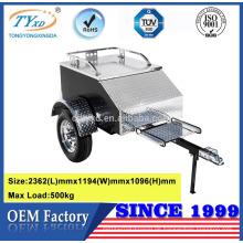 gedeckte Aluminium-Utility-Motorradanhänger