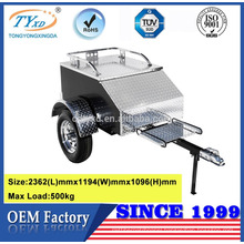 covered aluminum utility motorcycle trailers
