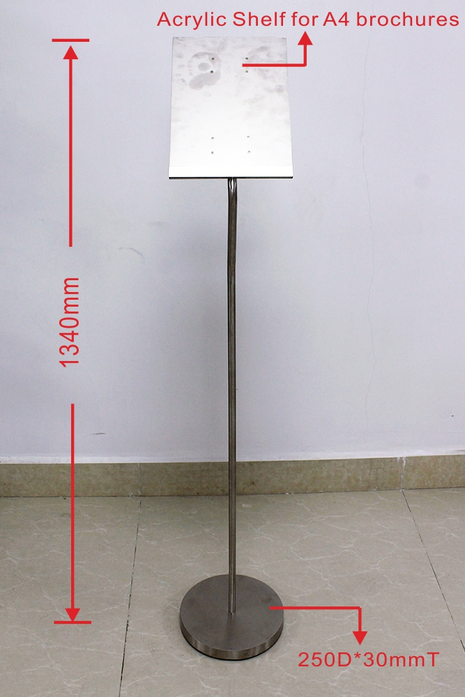 DS-V004 Advertising Brochure Sign Holder Floor Stand