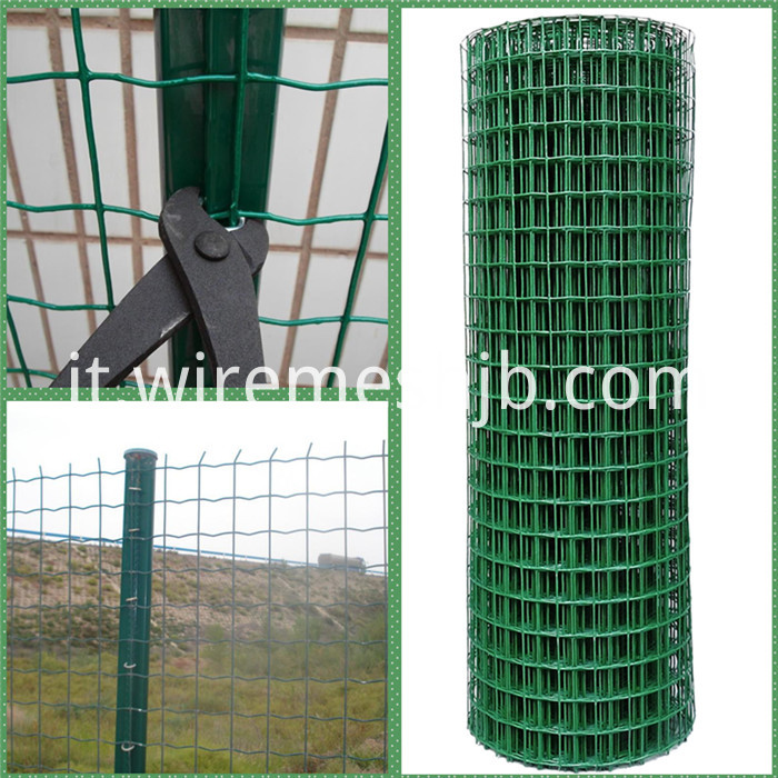 Green PVC Coated Welded Wire Fence