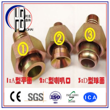 Factory Supply Bsp SAE Jic Metric Brass Casting Hose Pipe Fitting