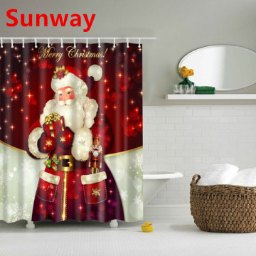 Christmas+Themed+Shower+Curtain