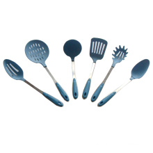 Blue Color 6pcs Stainless Steel Nylon Cutlery Sets