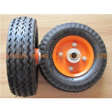 "rubber wheel 6""x2"",steel rim."
