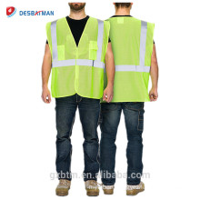 Hi Vis Guard mesh Event security vest/Class 2 Yellow Reflective High Visibility Safety Vest For Roadway/Construction