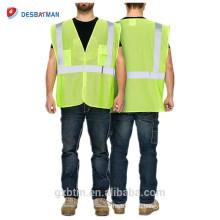 Привет ВИС гвардии сетки безопасности жилет/класс 2 желтый Светоотражающий повышенной видимости жилет безопасности для проезжей части/строительство