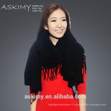2015 nouveau design femme de haute qualité tricoté usine d'écharpe Chine