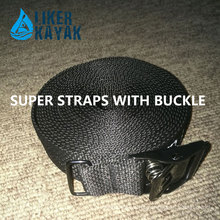 Polyester Retractable Ratchet Tie Down Buckle Strap for Kayak Trolley Lashing