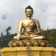 Bronze Gießerei Metall Handwerk hohe Buddha-Statue für Shakyamuni