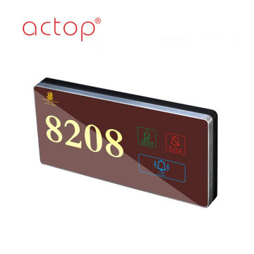hotel digital Led Back doorplate elektronik ringan