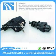 Cable de alimentación de CA 3-Prong de la UE Cable de adaptador del ordenador portátil 3Pin Diseño nuevo, ligero y de alta calidad.