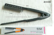 easy hair comb/fashion ABC plastic hairdressing accessories tool easy hair comb