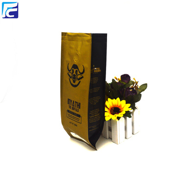 Side Gusset Aluminum Foil Coffee Bag With Valve