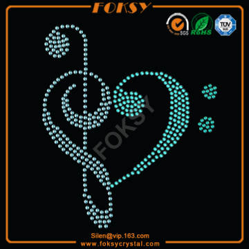 Music Note Heart iron on heat transfers wholesale