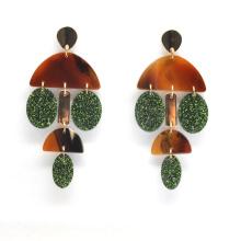 Custom acrylic chandelier tassel style ear ring jewelry for women fashion macrame earrings