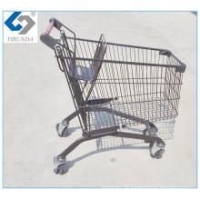 Schwarze Einkaufslaufkatze für Supermarkt