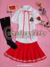 Unique adult red beautiful girls Chinese school uniforms