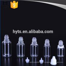 Garrafa plástica do conta-gotas do ANIMAL DE ESTIMAÇÃO de 15ml 30ml para o líquido de e