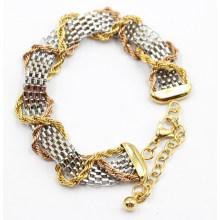 Bracelet en acier inoxydable en maille avec chaîne en or et en or rose