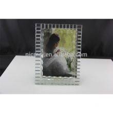 Promotional various latest design crystal glass picture photo frame