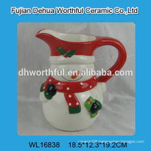 2016 factory direct sales ceramic mug in snowman shape
