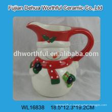 2016 завод прямых продаж керамическая кружка в форме снеговика