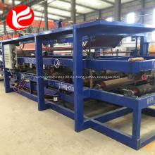 Línea de producción de hoja de metal de panel de techo sándwich Eps