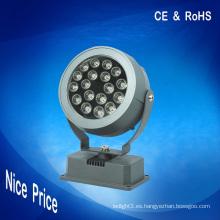 Iluminación del punto del rgb 18W llevó las luces de inundación dmx 24V CE RoHS para la decoración al aire libre