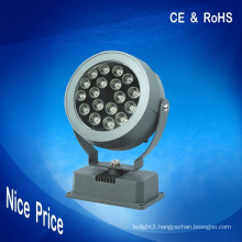 18W rgb spot lighting led flood lights dmx 24V CE RoHS for outdoor decoration