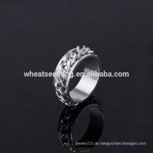 2014 neuer Entwurfsmänner einfacher Edelstahlmänner Ring