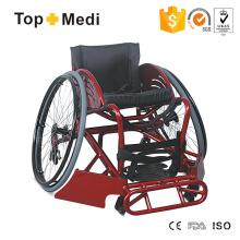 Cadeira de rodas esportiva manual high-end para ofensiva de rúgbi