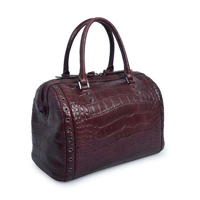 crocodile embossed leather tote bags designer women top handle handbags