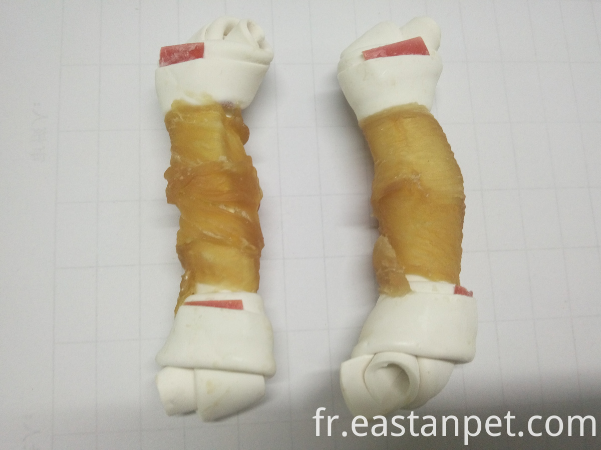chicken wrapped dental knotted bone dog