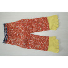Yellow + Red Comfortable Five Toe Socks , Warm Ladies Socks For Spring / Autumn