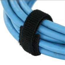 Black Soft Velcro Hook Loop Cable Tie