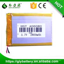 Preço de fábrica do modelo 406080 3.7 v 2800 mah bateria de polímero de lítio