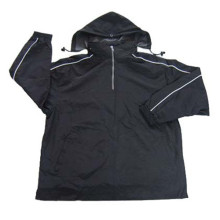 Großhandelsmänner Art und Weise Athletische Jacke mit Nylon Taslon
