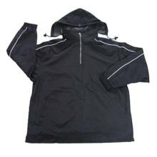 Großhandelsmänner Art und Weise windundurchlässige athletische Jacke mit spätem Entwurf