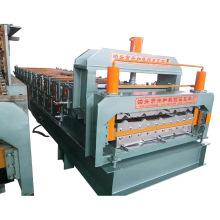 Venta caliente de la máquina de fabricación de láminas para techos de doble capa
