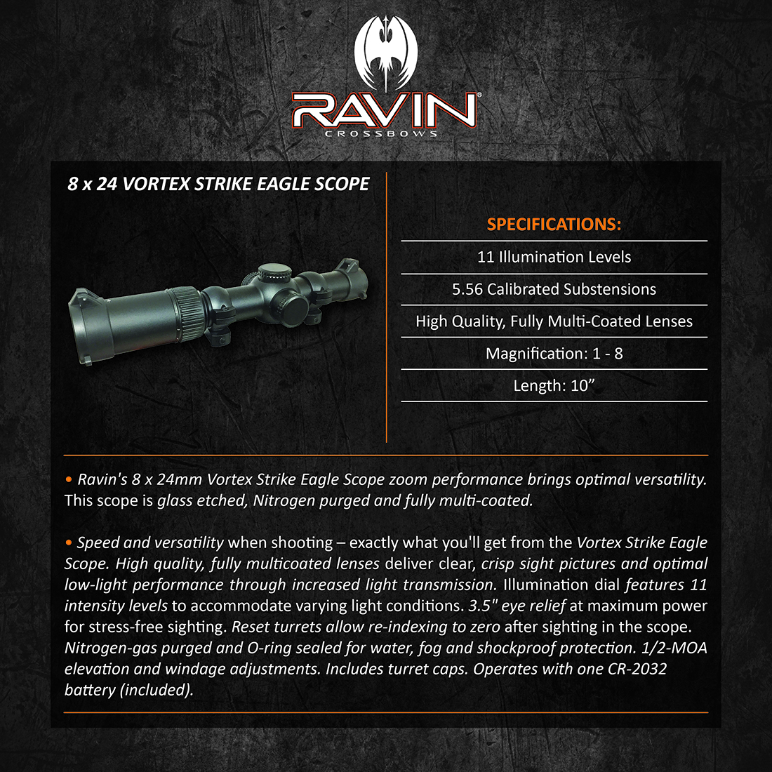 Ravin_8x24_Vortex_Strike_Eagle_Scope_Product_Description
