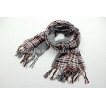 Bufanda de la tela escocesa del algodón de las mujeres 100 de la manera