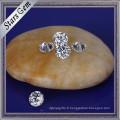 Pierres synthétiques blanches de Zirconia de haute qualité d'Aaaaa pour les bijoux de CZ