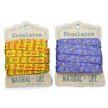 Jacquard Round Floral Cartoon Shoestring Flat Shoelaces