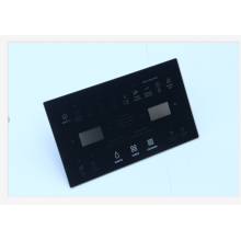 black tempered glass plate for microwave oven door