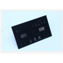 placa de vidro temperado preto para porta de forno de microondas