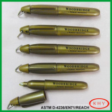 Best Selling Mini Glass Marker with gold color